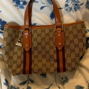 GUCCI Small Jolicoeur Canvas Tote Bag